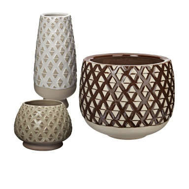 Ваза Two Tone Lattice Pots