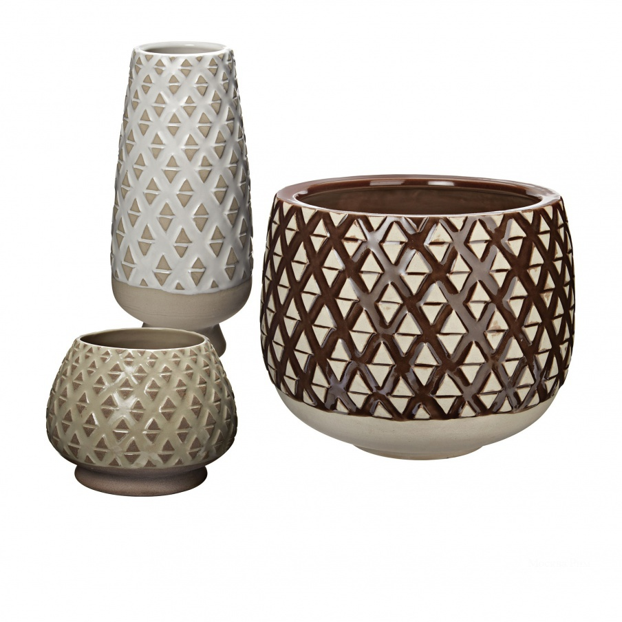 Ваза Two Tone Lattice Pots Dimond Home