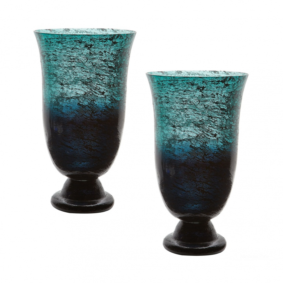 Ваза Emerald Ombre Flared Vase - Set Of 2 Dimond Home