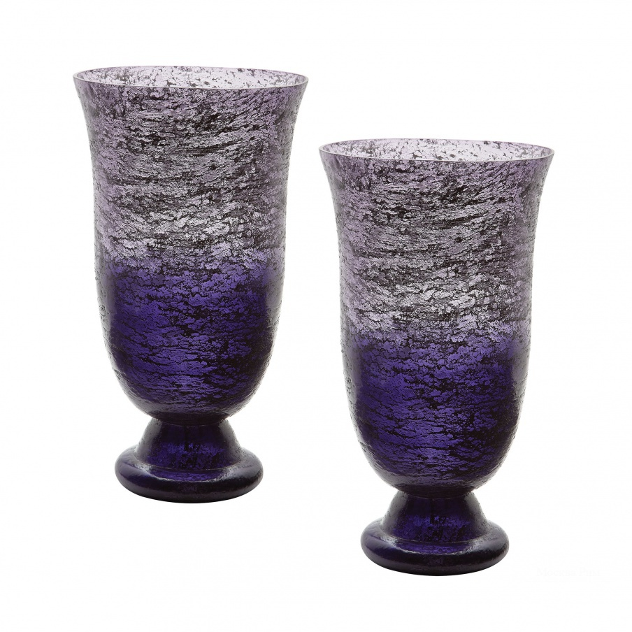 Ваза Plum Ombre Flared Vase - Set Of 2 Dimond Home