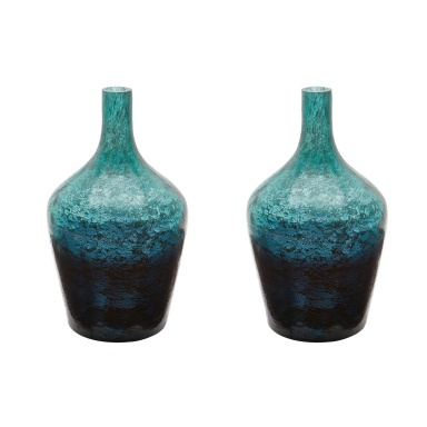 Ваза Emerald Ombre Bottle - Set Of 2
