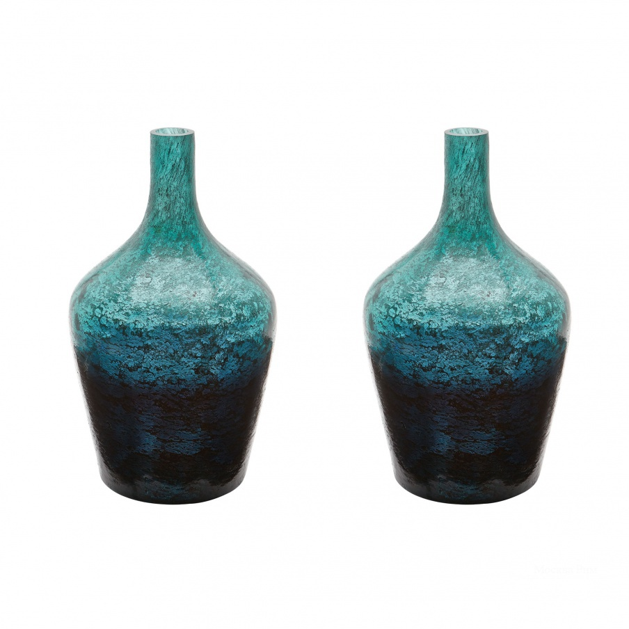Ваза Emerald Ombre Bottle - Set Of 2 Dimond Home