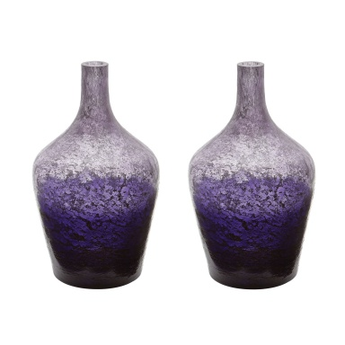 Ваза Plum Ombre Bottle - Set Of 2