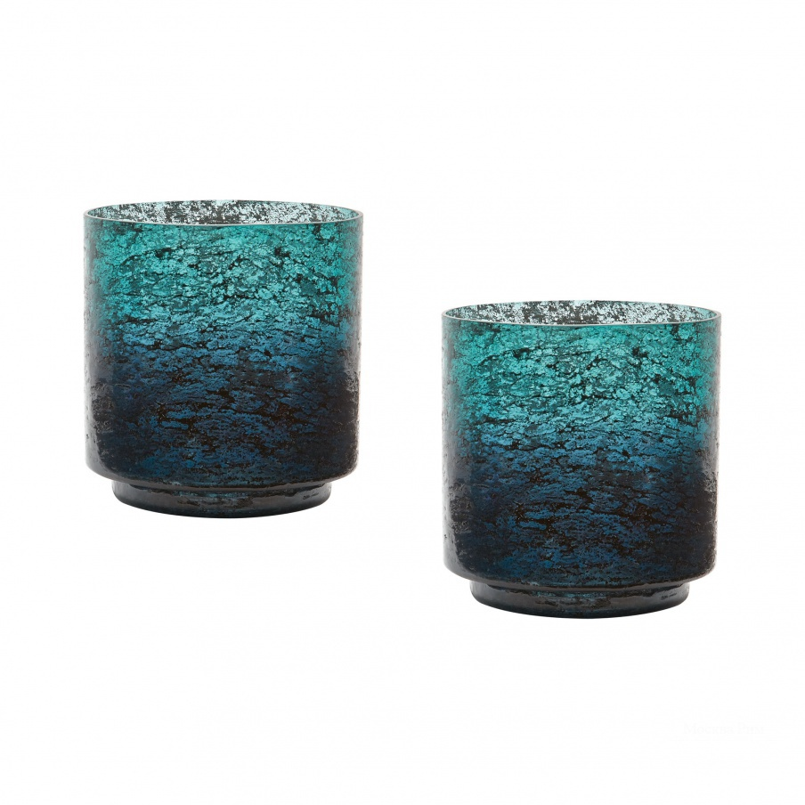 Ваза Emerald Ombre Hurricane- Set Of 2 Dimond Home