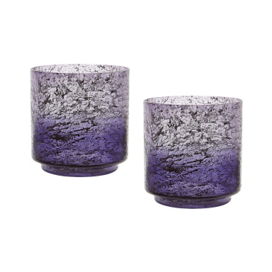 Ваза Plum Ombre Hurricane - Set Of 2