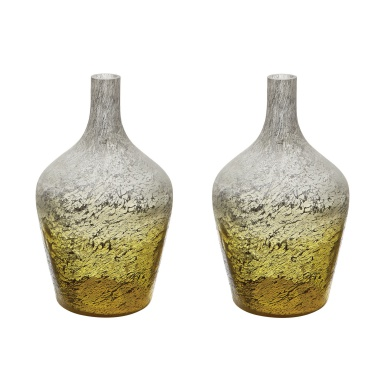Ваза Lemon Ombre Bottle - Set Of 2