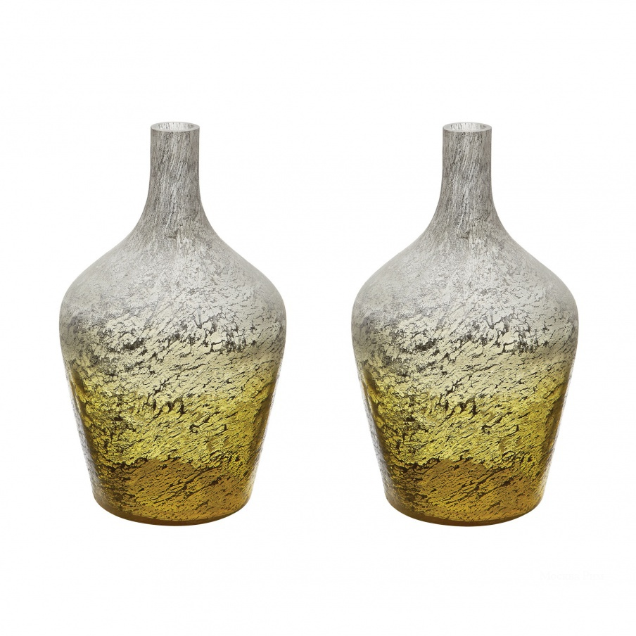 Ваза Lemon Ombre Bottle - Set Of 2 Dimond Home