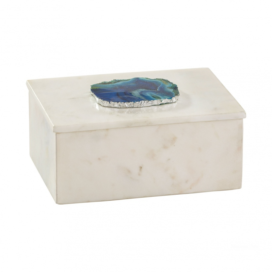 Коробочка для хранения Marble and Blue Agate Box Dimond Home