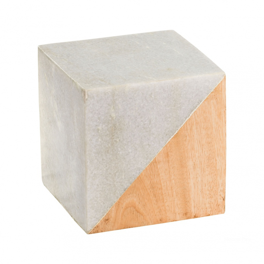 Аксессуар Large Marble and Wood Split Cube Dimond Home