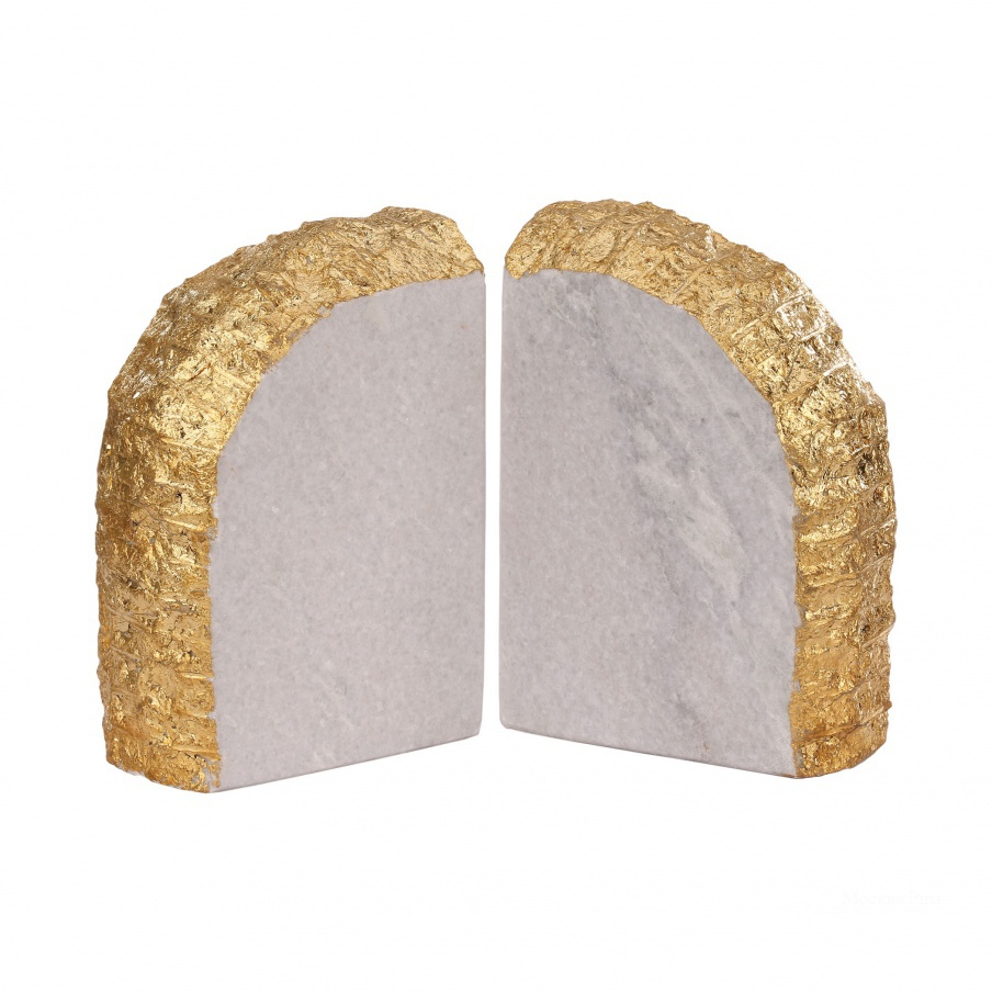 Книгодержатель Glace Bookends In Gold Dimond Home