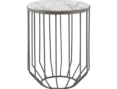 Стол Helm Accent Table In Zinc Dimond Home