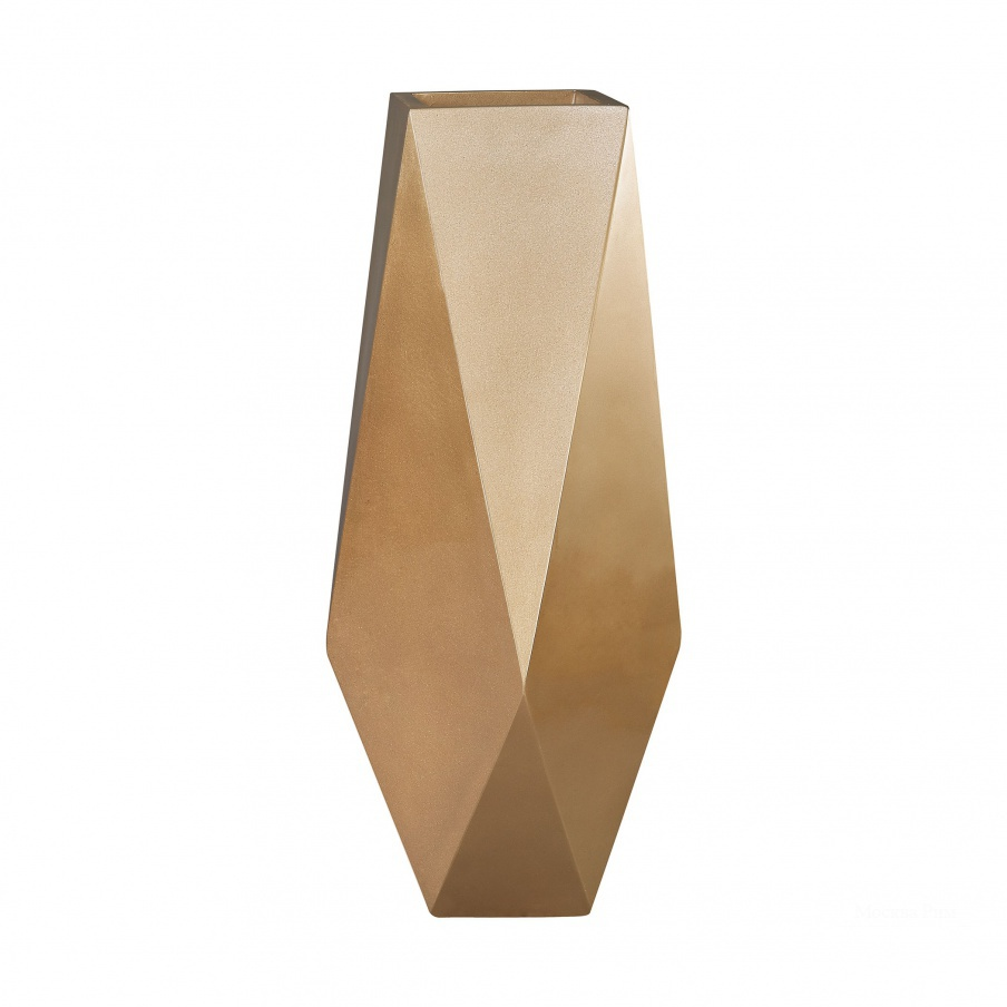 Кашпо Qattara Planter In Champagne Gold Dimond Home