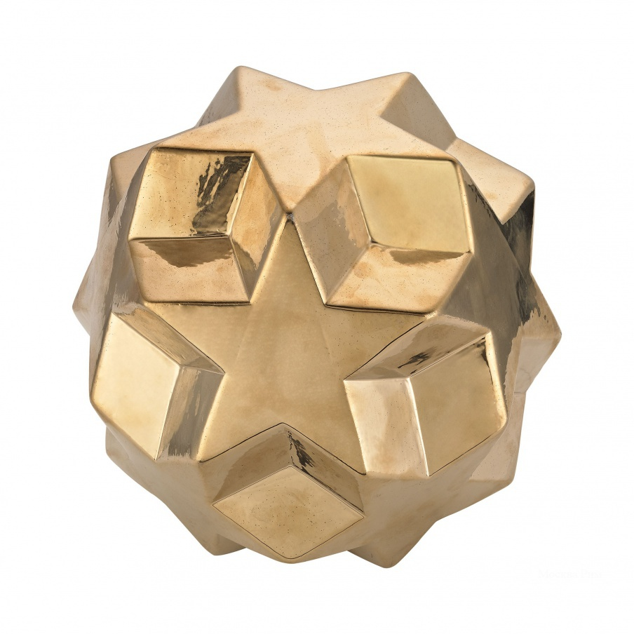 Аксессуар Ceramic Gold Table Top Star Ball Dimond Home