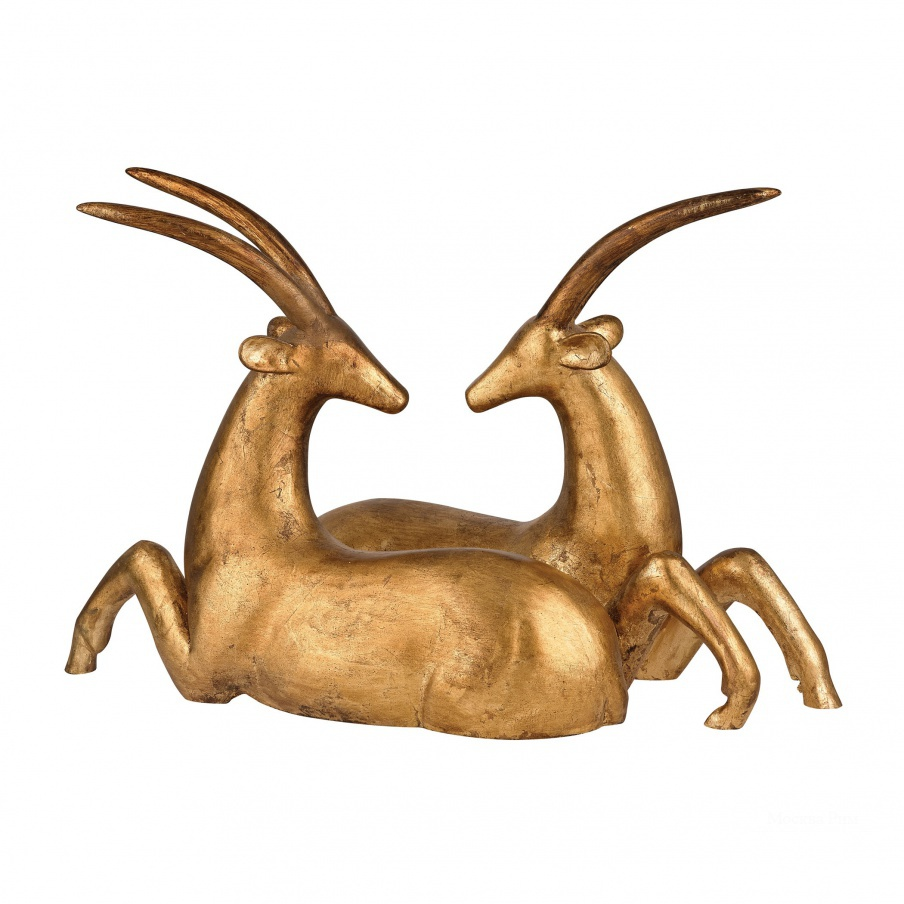 Статуэтка Resting African Gazelle Sculpture Dimond Home
