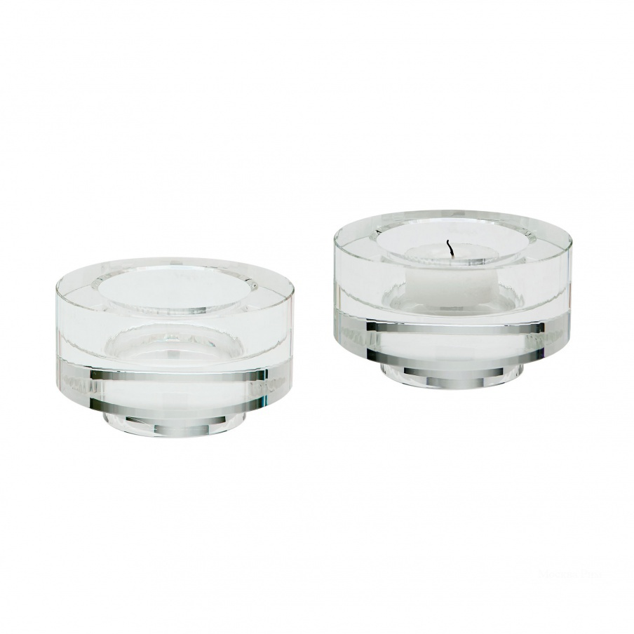 Подсвечник Fluted Crystal Votive -Set Of 2 Dimond Home