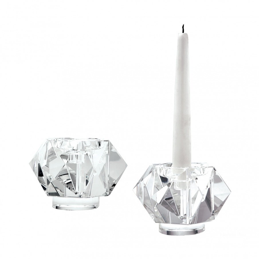 Подсвечник Faceted Star Crystal Candleholders - Small. Set Of 2 Dimond Home