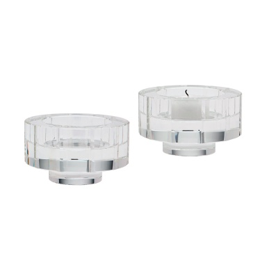 Подсвечник Round Windowpane Crystal Candleholders - Small. Set Of 2