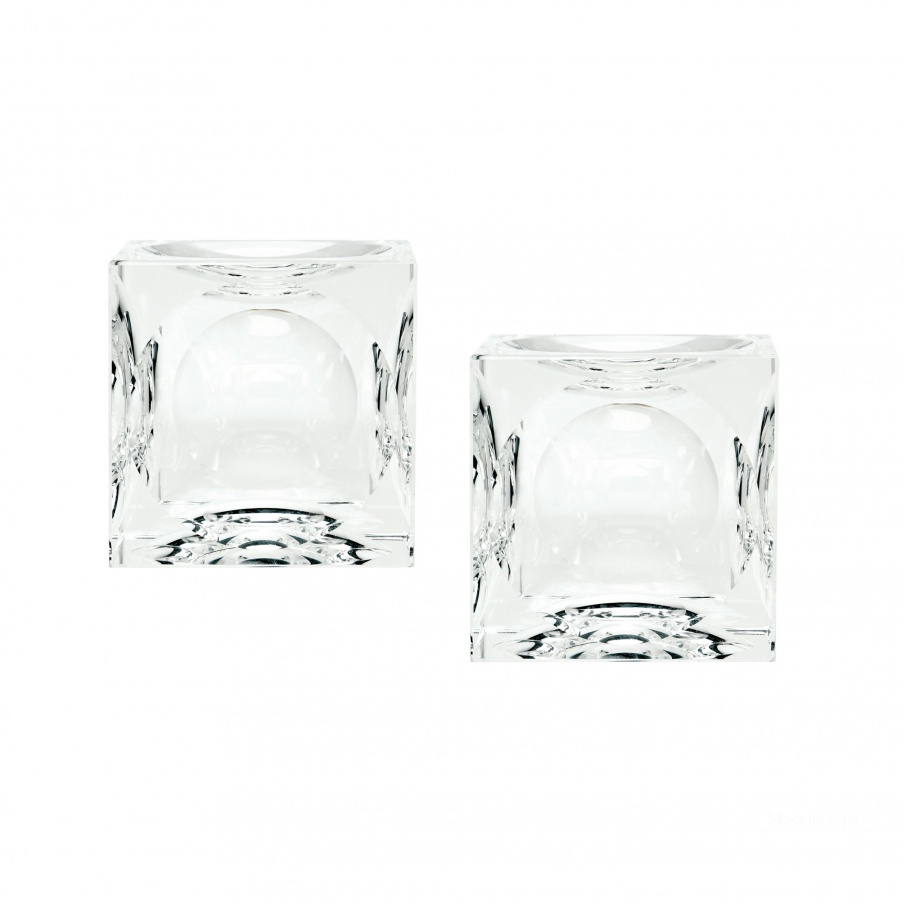 Подсвечник Dimpled Crystal Cubes - Small. Set Of 2 Dimond Home
