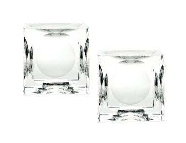 Подсвечник Dimpled Crystal Cubes - Large. Set Of 2 Dimond Home