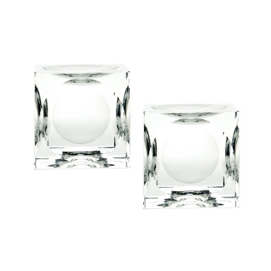 Подсвечник Dimpled Crystal Cubes - Large. Set Of 2