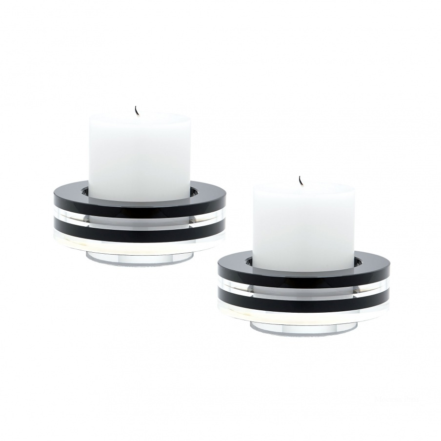 Подсвечник Round Tuxedo Crystal Candleholder - Set Of2 Dimond Home