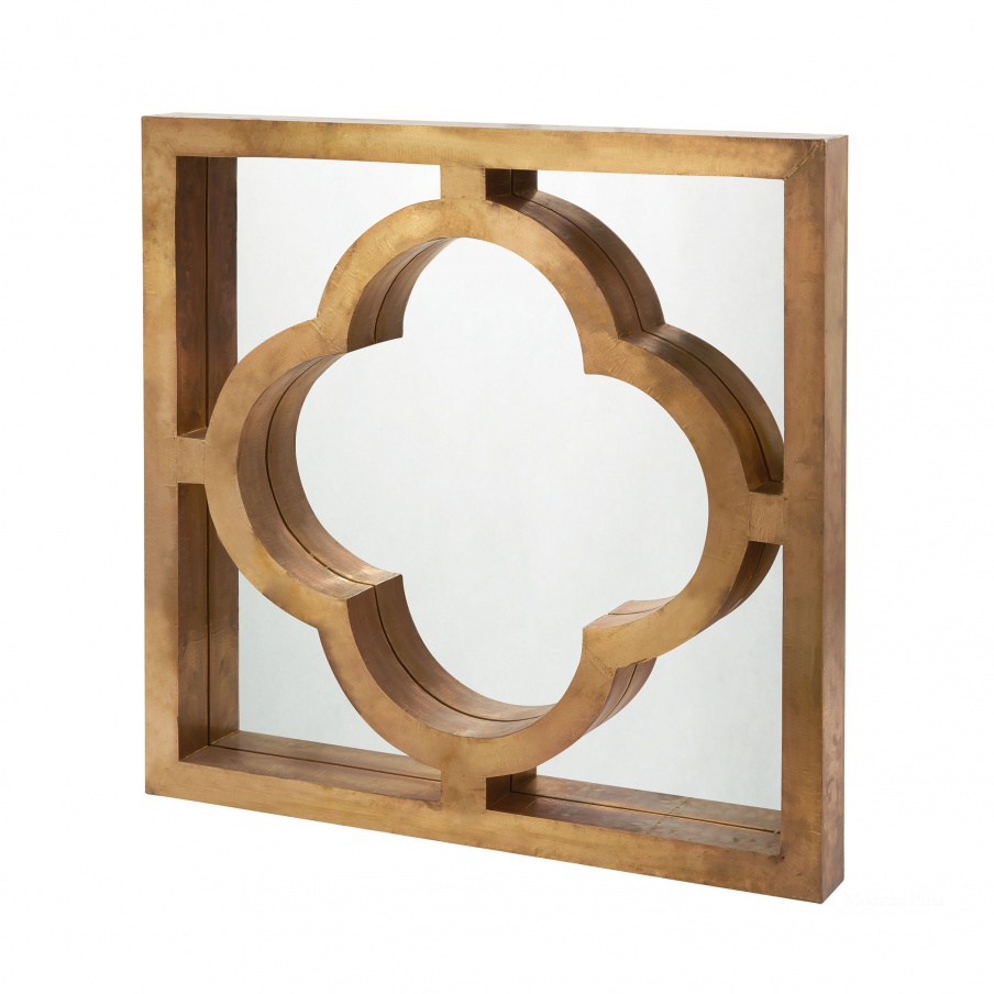 Настенное Quatrefoil Brass Clad Mirror Dimond Home