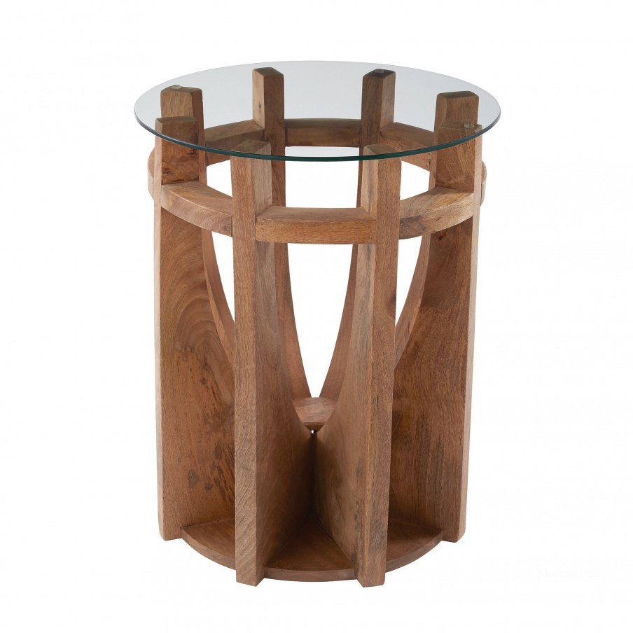 Стол Wooden Sundial Side Table Dimond Home