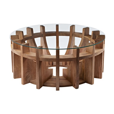 Стол Wooden Sundial Coffee Table