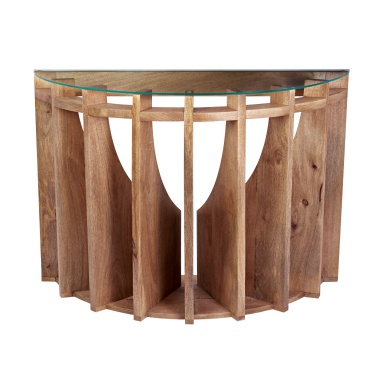 Табурет Wooden Sundial Console Table
