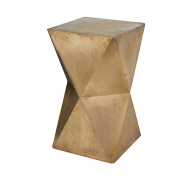 Табурет Faceted Stool With Brass Cladding