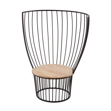 Стул Teak & Metal Carousel Chair