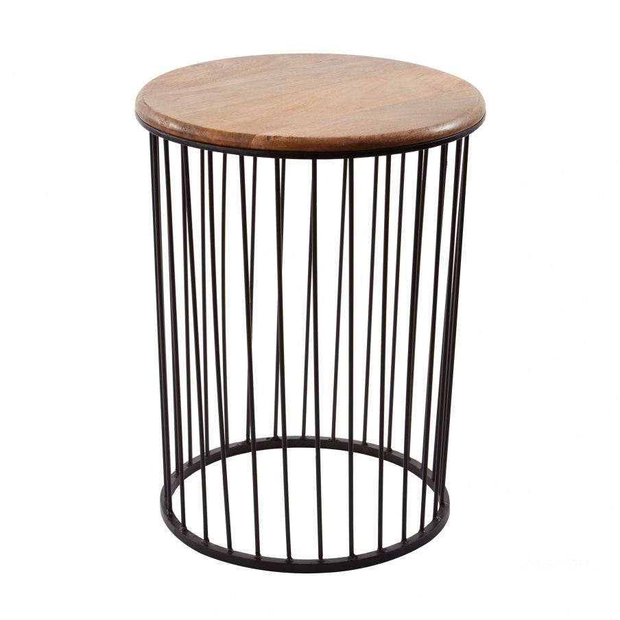 Стол Tall Teak & Metal Carousel Table Dimond Home