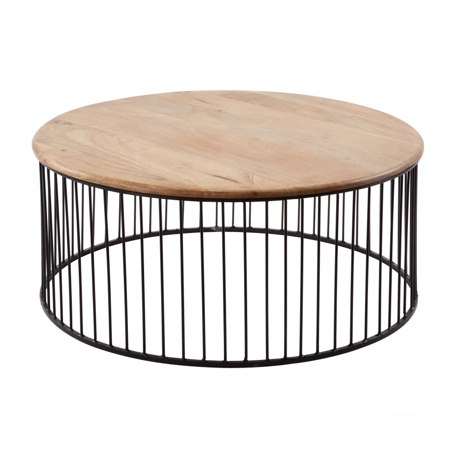 Стол Short Teak & Metal Carousel Table Dimond Home