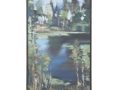 Картина Mountain Lake Hand Painted Waterscape Guild Master