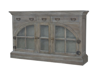 Буфет Farmhouse China Credenza In Waterfront Grey Stain And White Wash Guild Master