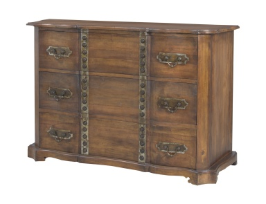 Комод Heritage Chest In New Signature Stain With Antiqued Tin And Tack Guild Master
