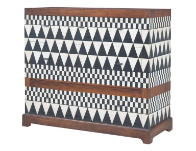 Комод Signature Chest In New Signature Stain With Hand Painted Geometric Art Guild Master