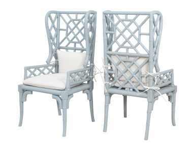 Кресло Bamboo Wing Back Chairs In Manor Slate - Set of 2 Guild Master