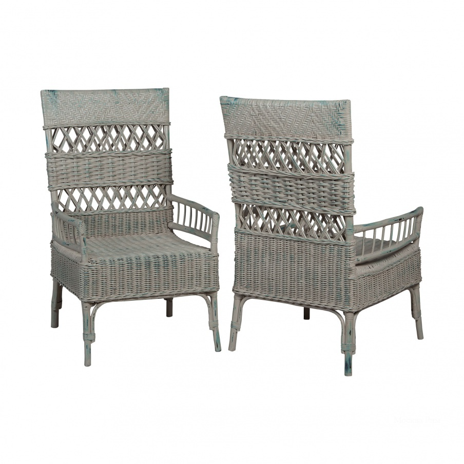 Кресло Woven Rattan Arm Chairs Guild Master