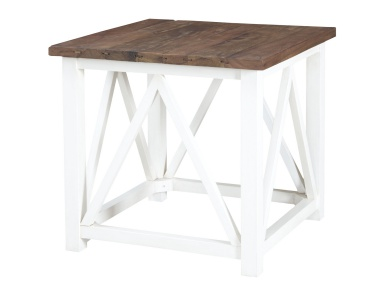 Стол Square Stick Tables In Natural And Handpainted White Guild Master