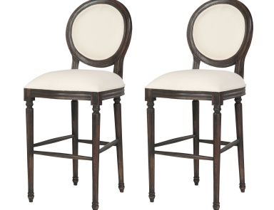 Кресло Allcott Bar Stool In Ash Black Stain - Set of 2 Guild Master