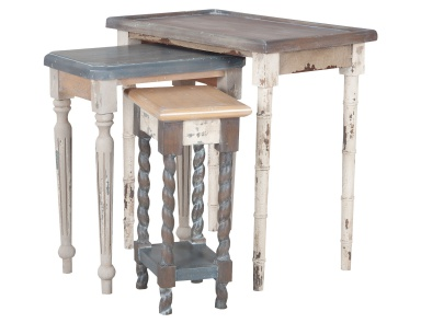 Стол Artifacts Nesting Tables In Multi Stain Collage Finish Guild Master