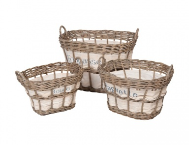 Корзина Rattan Baskets-Set Of 3 Guild Master
