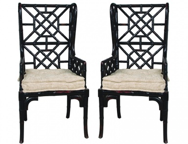 Стул Bamboo Wing Back Chair Guild Master