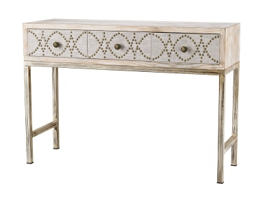 Консоль Albiera 3 Drawer Desk Sterling