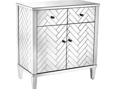 Шкаф Chatelet Cabinet In Clear Mirror Finish Sterling
