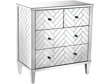 Комод Chatelet Chest In Clear Mirror Finish Sterling