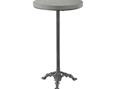 Стол Montparnasse Accent Table In Aged Iron And Concrete Sterling