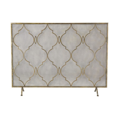 Перегородка Agra Antique Gold 34-Inch Metal Fire Screen