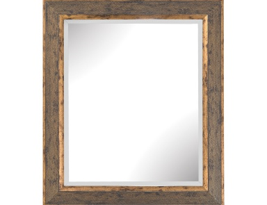 Настенное Cognac Composite Frame Wall Mirror In Rust And Gold Sterling